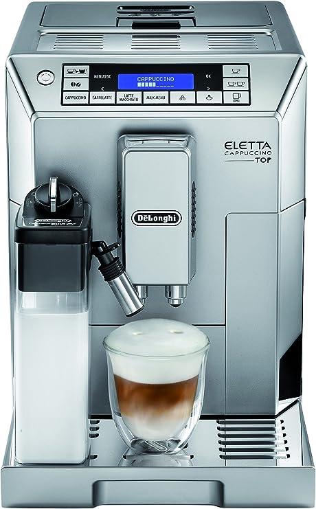 DeLonghi Eletta Cappuccino TOP ECAM 45.366.S Independiente Totalmente automática Máquina espresso 14tazas Plata - Cafetera (Independiente, Máquina espresso, Granos de café, De café molido, Molinillo integrado, 1450 W, Plata): Amazon.es: Hogar