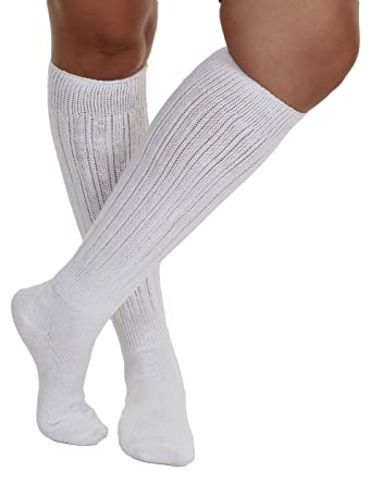 sleek huge discount attractive colour White All Cotton Extra Heavy Super Slouch Socks
