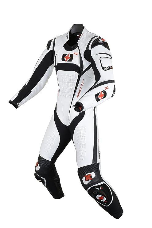 Amazon.com: Oxford RP-1 Cuero Suit, 42, Blanco/Negro: Automotive