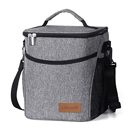 9e9b7b6fc114 Lifewit 9L 12 Cans Insulated Picnic Lunch Bag with Bottle Holder for  Adults Men