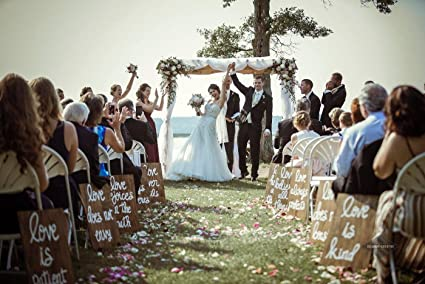 Amazon com: Aisle Signs Custom Wood Wedding Signs Ceremony Signs