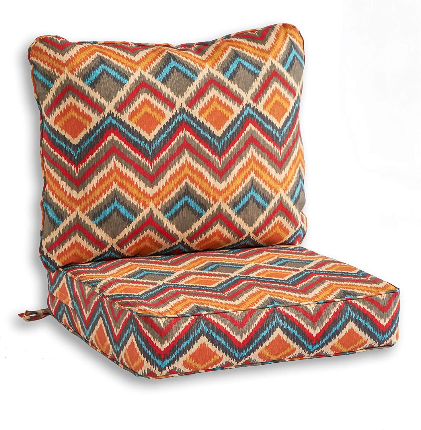 South Pine Porch AM7820-SURREAL Surreal 2-Piece Outdoor Deep Seat Cushion Set