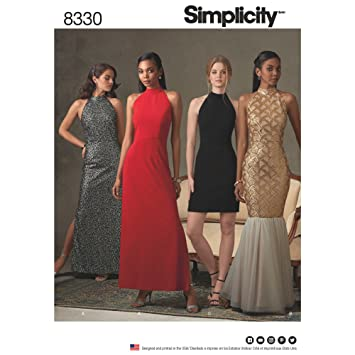 Simplicity Muster 4–8 – 10–12 Misses Kleid mit Rock und Rückseite ...