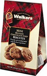 Walkers Shortbread Mini Belgian Chocolate Cookies, 4.4 Ounce (Pack of 12)