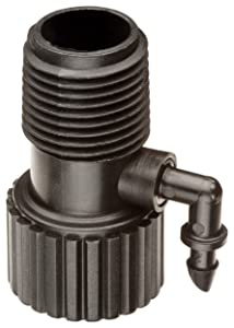 """Rain Bird RISMAN1S Drip Irrigation Riser Adapter Drip and Sprinkler Watering, 1/2"""" Female Pipe Thread x 1/2"""" Male Pipe Thread x 1/4"""" Barbed End"""