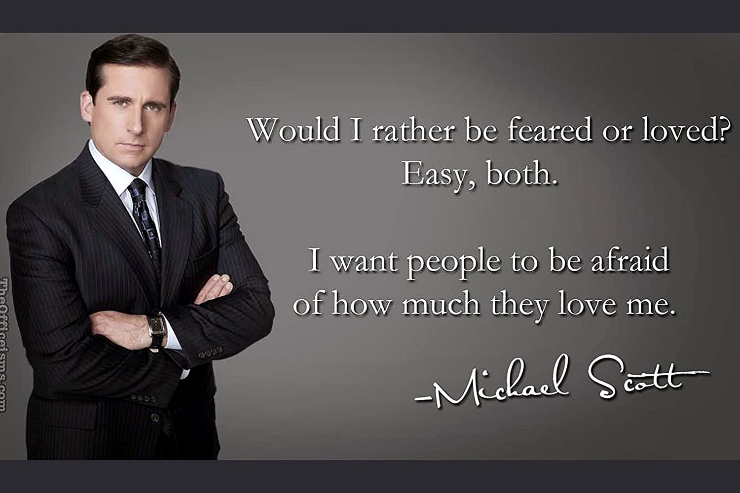Love of Life Michael Scott Quotes Would I rather….Poster 12 x 18 inch
