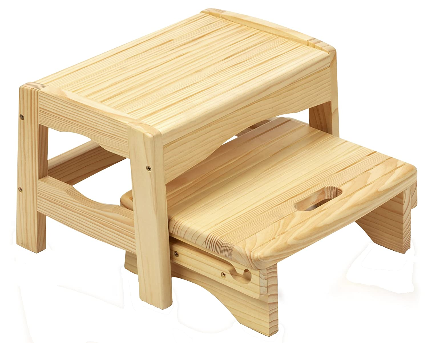 Amazon.com  Safety 1st Wooden Two Step Stool  Toilet Training Step Stools  Baby  sc 1 st  Amazon.com : 2 step wooden step stool - islam-shia.org