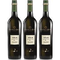Viña AB Amontillado - Vino D.O. Jerez - 3 botellas de 750 ml - Total: 2250 ml