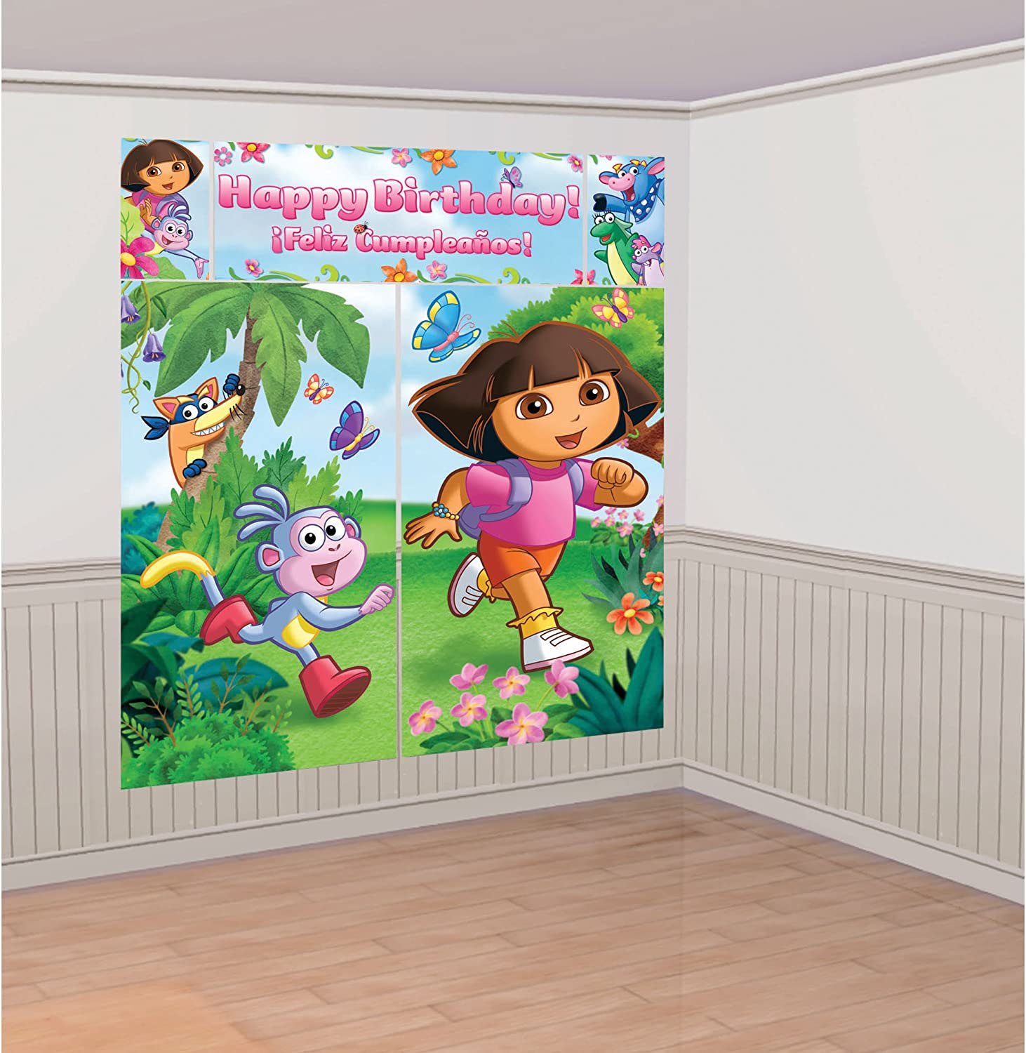 Dora Table Decorating Kit Happy Birthday LARGE with Boots Monkey