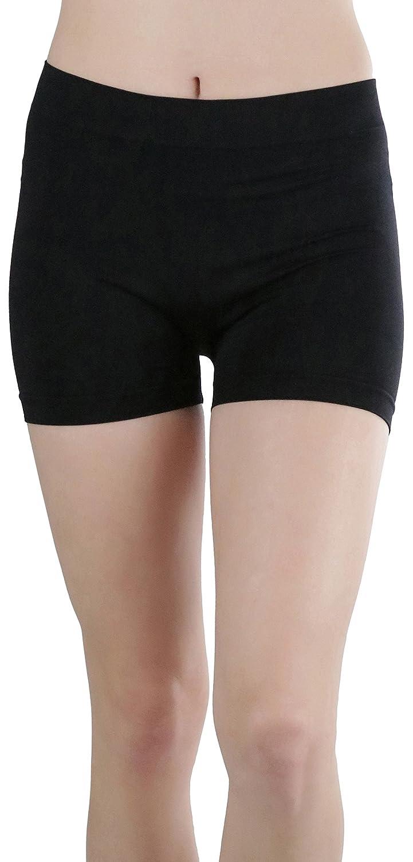 ToBeInStyle 婦人向け レギンス ショートパンツ ナイロン 膝丈 25cm (10インチ) ワンサイズ ブラック B06ZYRVTX6
