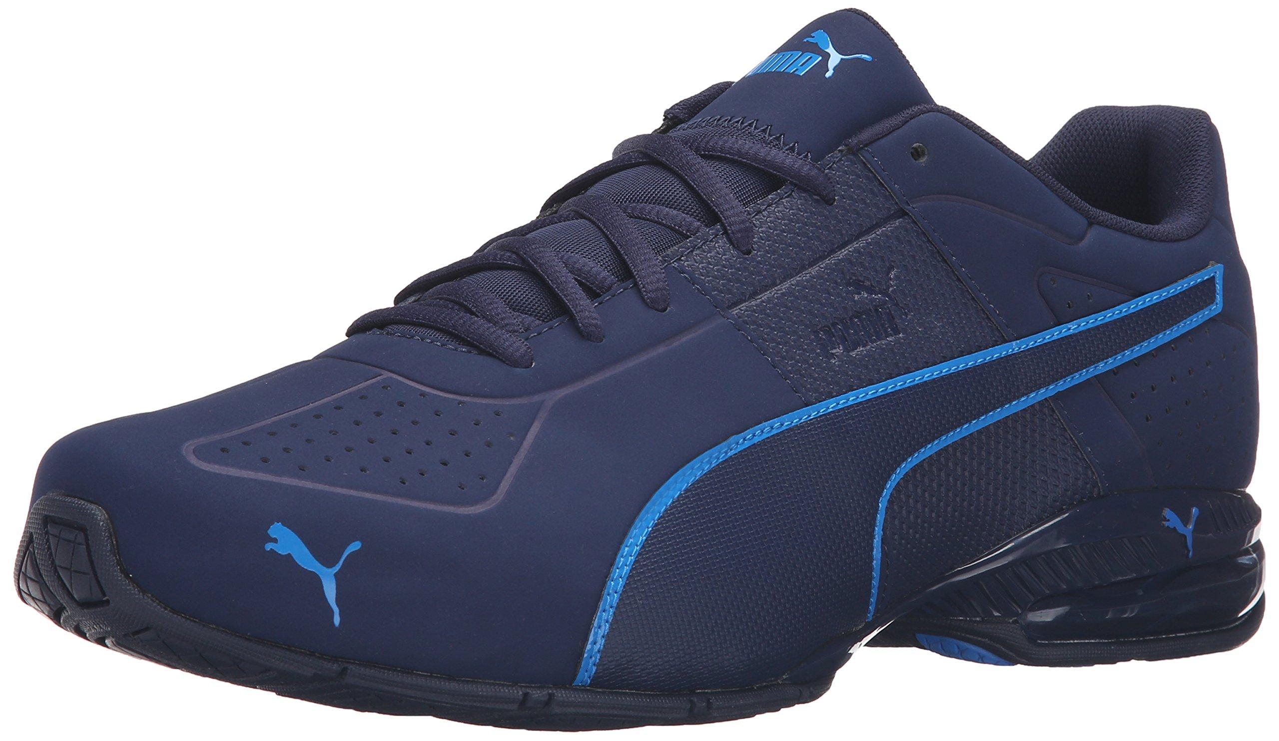 PUMA Men's Cell Surin 2 Matte Cross-Trainer Shoe, Peacoat/Electric Blue Lemonade, 9 M US