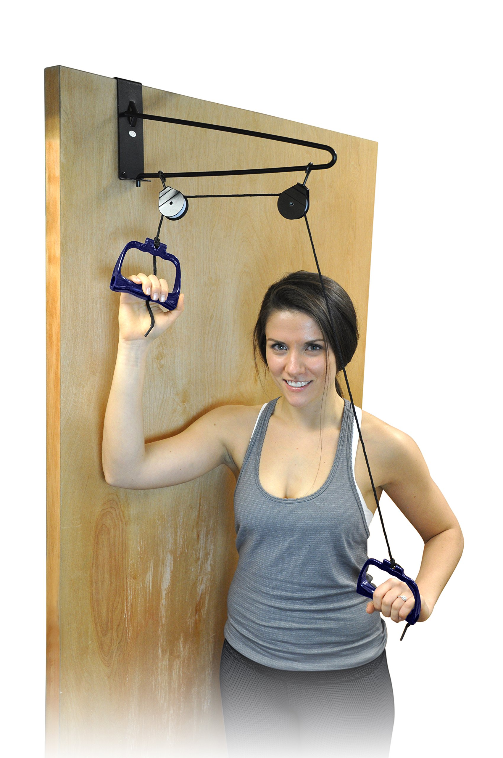 Exercise Overdoor Shoulder Pulley - Home Stretching, Physical Therapy, Rehab & Muscle Toning Fitness Equipment - Overhead Workout System & Arm Exerciser That Increases Your Motion Range - Complete Set