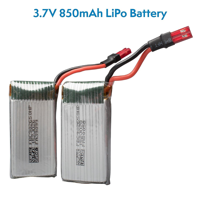 Amazon.com: Force1 F111 Phoenix Drone Batteries - 2 Pack 3.7v 850mAh LiPo  Drone Battery for Force1 F111 Phoenix Folding Quadcopter Drone: Toys & Games