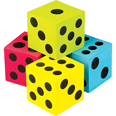 Teacher Created Resources (20810) Colorful Jumbo Dice 4-Pack: Office Products