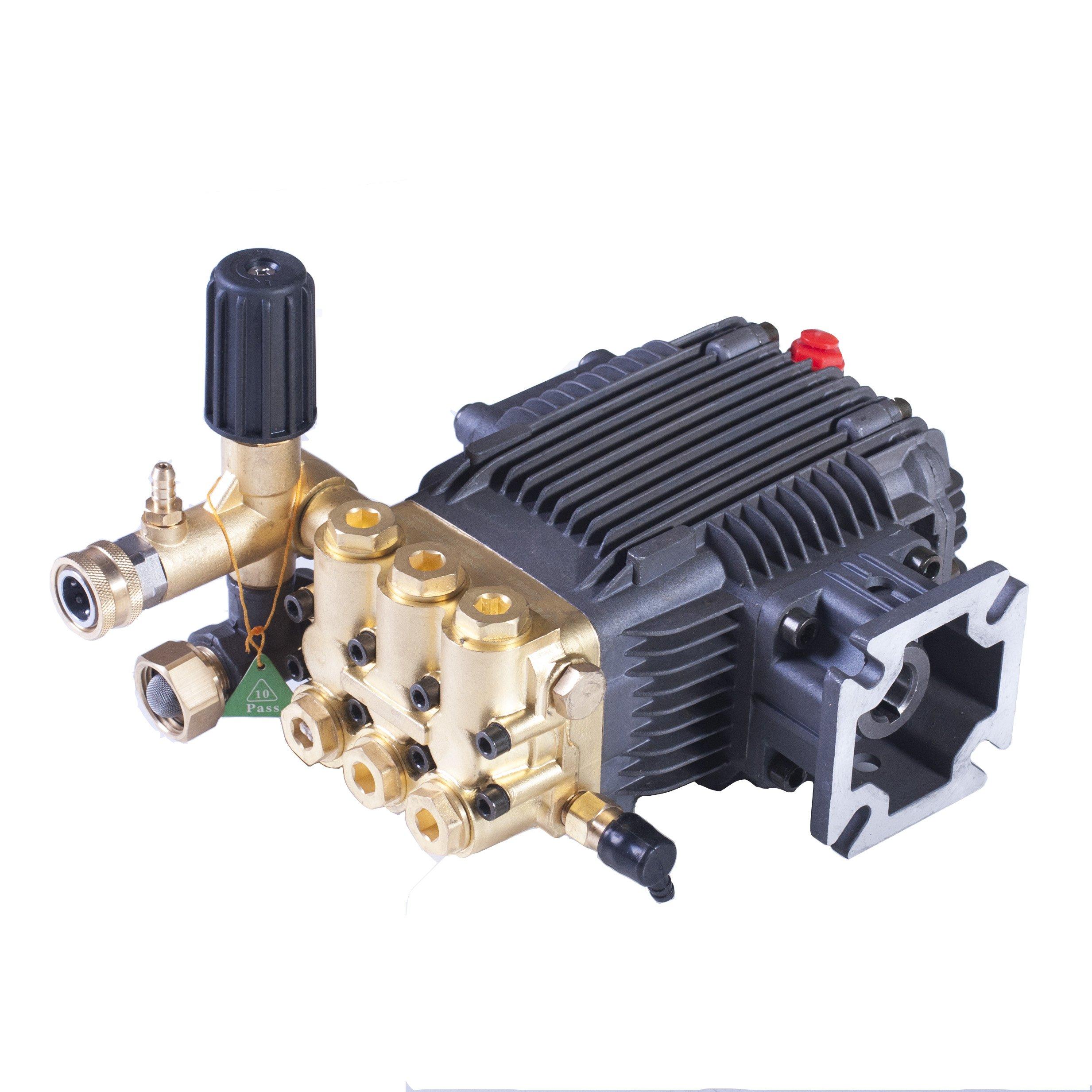 Triplex High Pressure Power Washer Pump 3.1 GPM 3000 psi 6.5 HP 3/4'' Shaft fits Cat General AR