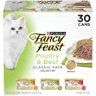 Purina Fancy Feast Classic Pate Poultry & Beef Collection Wet Cat Food Variety Pack - (30) 3 Oz. Cans