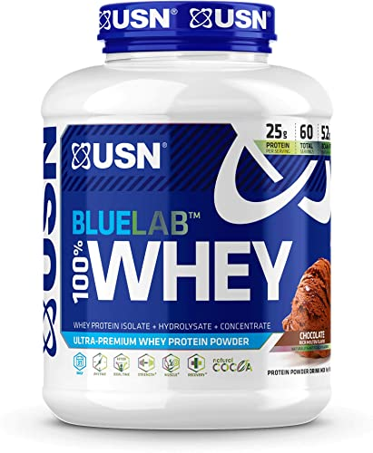 USN Supplements BlueLab 100 Percent Whey Protein Powder – Keto Friendly, Low Carb and Low Calorie