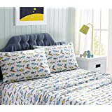 Kute Kids Super Soft Sheet Set – Sharks – Includes Pillowcase(s) Available in Twin & Full Size (Twin)