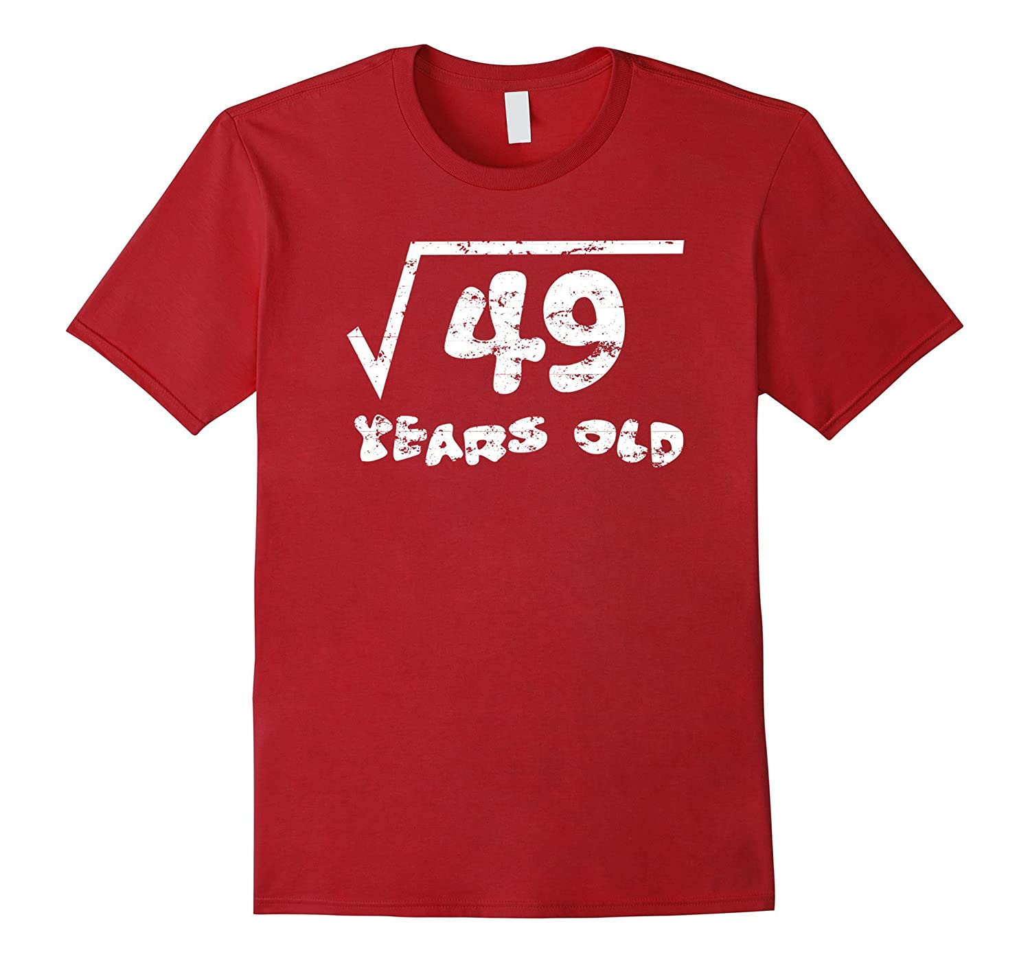 7th Birthday Square Root of 49 Math 7 Years Old T-Shirt-Vaci