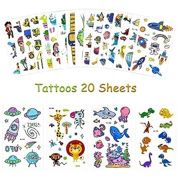 Yojoloin 180Pcs Tatuajes temporales Pegatinas Niños Niñas ...