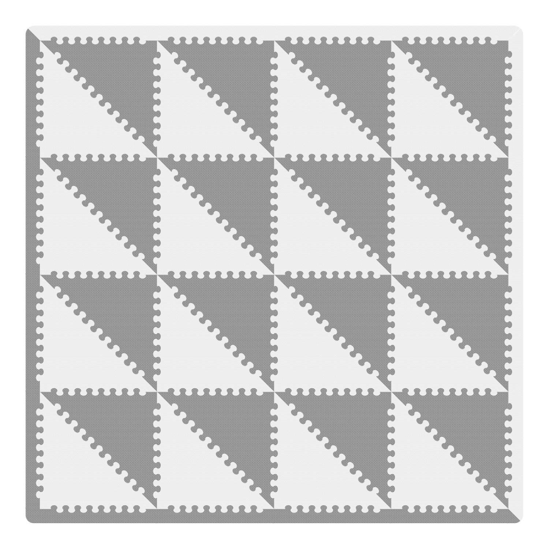 XMTMMD Triángulo Rompecabezas Mat EVA Puzzle ColchonetaPara Ninos Y Infantiles EVA Puzzle Colchonetas Puzzle/Rompecabezas para Cubrir el Suelo ...