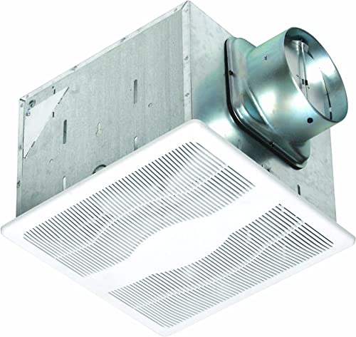 Air King E130DH Energy Star Dual Speed Humidity Sensing Exhaust Bath Fan, 130-CFM, White Finish