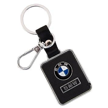 Negro Primeum piel aleación de zinc metal BMW Llavero