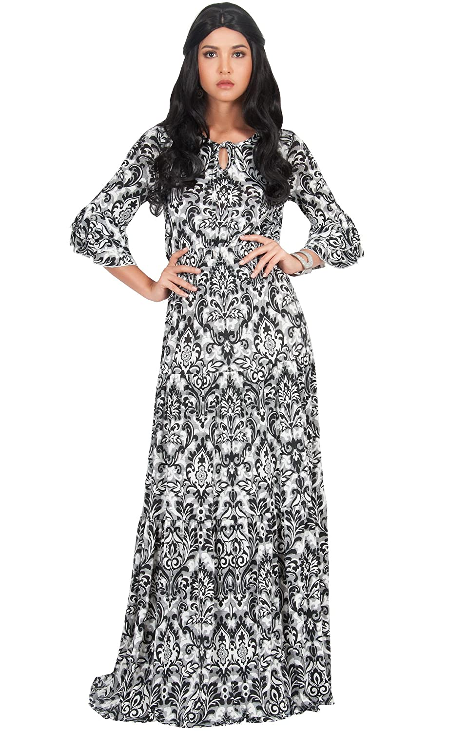 7814ac14f8 PLUS SIZE - Flattering and slimming plus size maxi dresses and gowns  plus  sized full length clothing for larger ladies. STYLE - Loose fitting long  sleeved ...