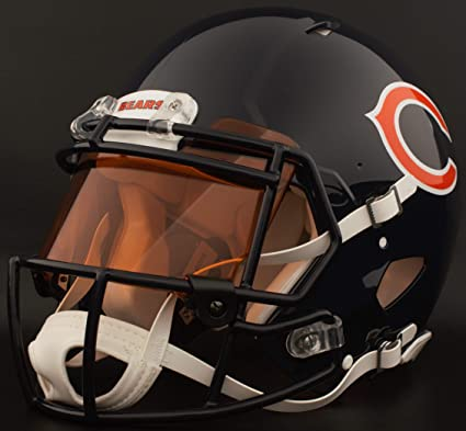Image Unavailable. Image not available for. Color  Riddell Custom Chicago  Bears Full Size NFL Speed ... a0d0d7848