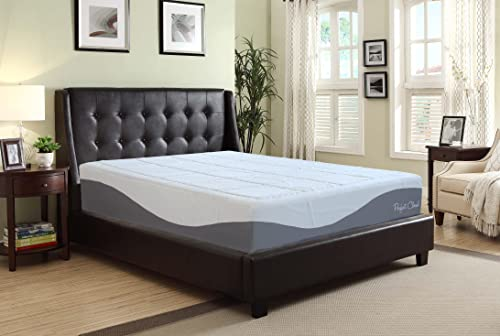 Perfect Cloud Elegance Memory Foam Mattress by (Twin) - 12-Inches Tall - Features Luxurious Fabrics and Double Layer of Visco-Gel Cool Design for All-Night Comfort