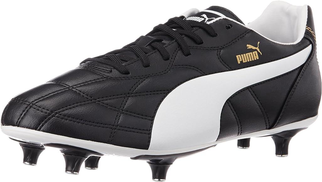 puma black and white football boots