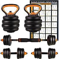 Umi. by Amazon verstelbare gewichten, halterset, multifunctionele halterset & kettlebell & halterset voor thuis, gym…