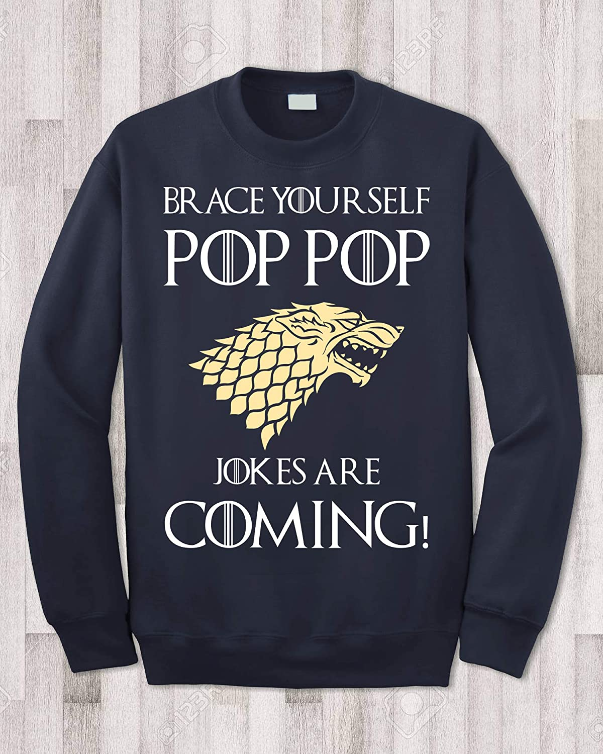 Brace Yourself Pop Pop Jokes are Coming Funny Vintage Trending Awesome Gift