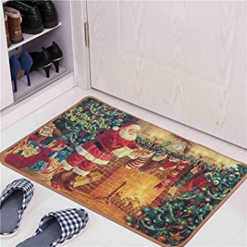 Amazon Com Junovo Stocking Stuffer Christmas Rugs Santa Claus