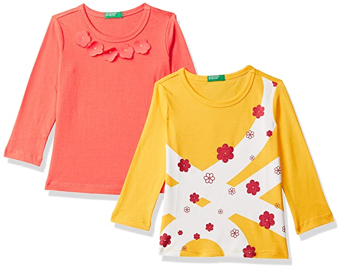Baby-Girl's Cotton Clothing Set (Pack of 2)