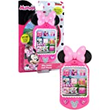 Minnie Bow-Tique Why Hello Cell Phone with Lights and Realistic Sounds for Kids, Features Minnie Mouse Phrases , Pink , Origi