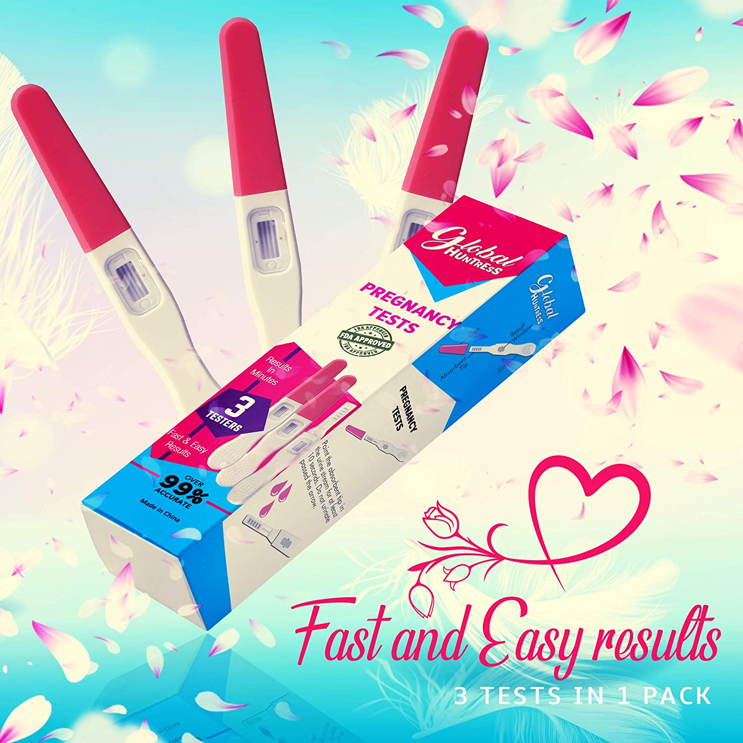 at-Home Early Pregnancy Test Kit   Early Detection 3 Tests Included - Accurate & Easy Response Results