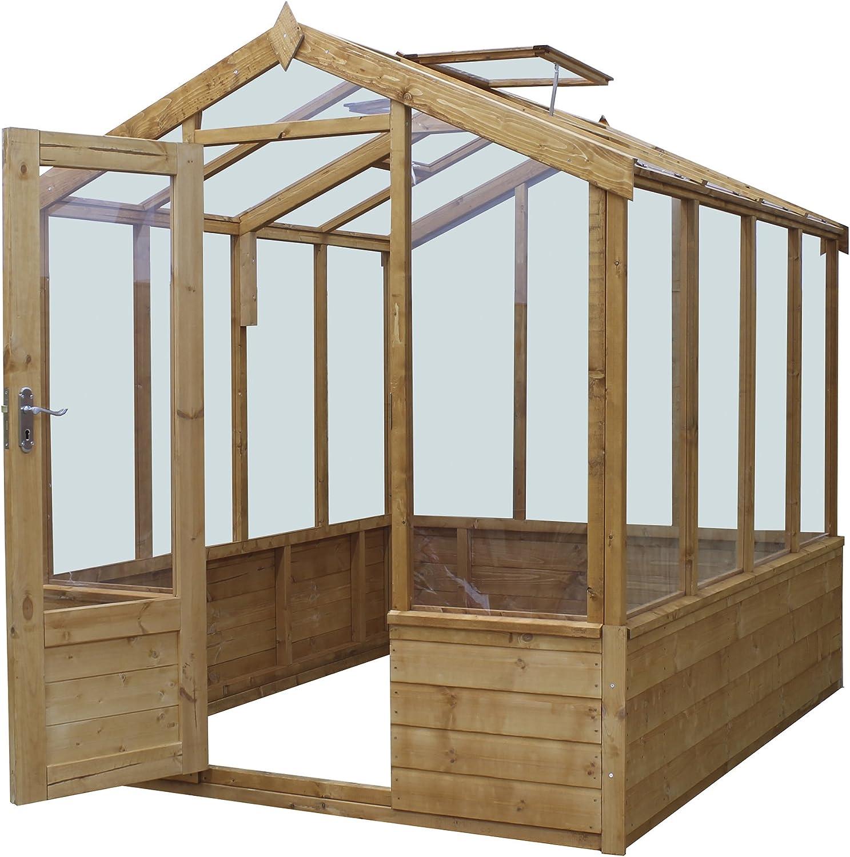 Waltons 6 pies x 8 pies lengua y Groove de madera Premium – de efecto invernadero de cristal: Amazon.es: Jardín