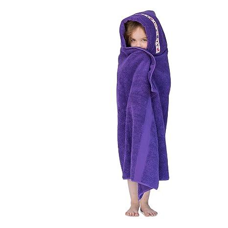 Con capucha búhos grande toalla con capucha para niños, 1 – 8yrs, morado con