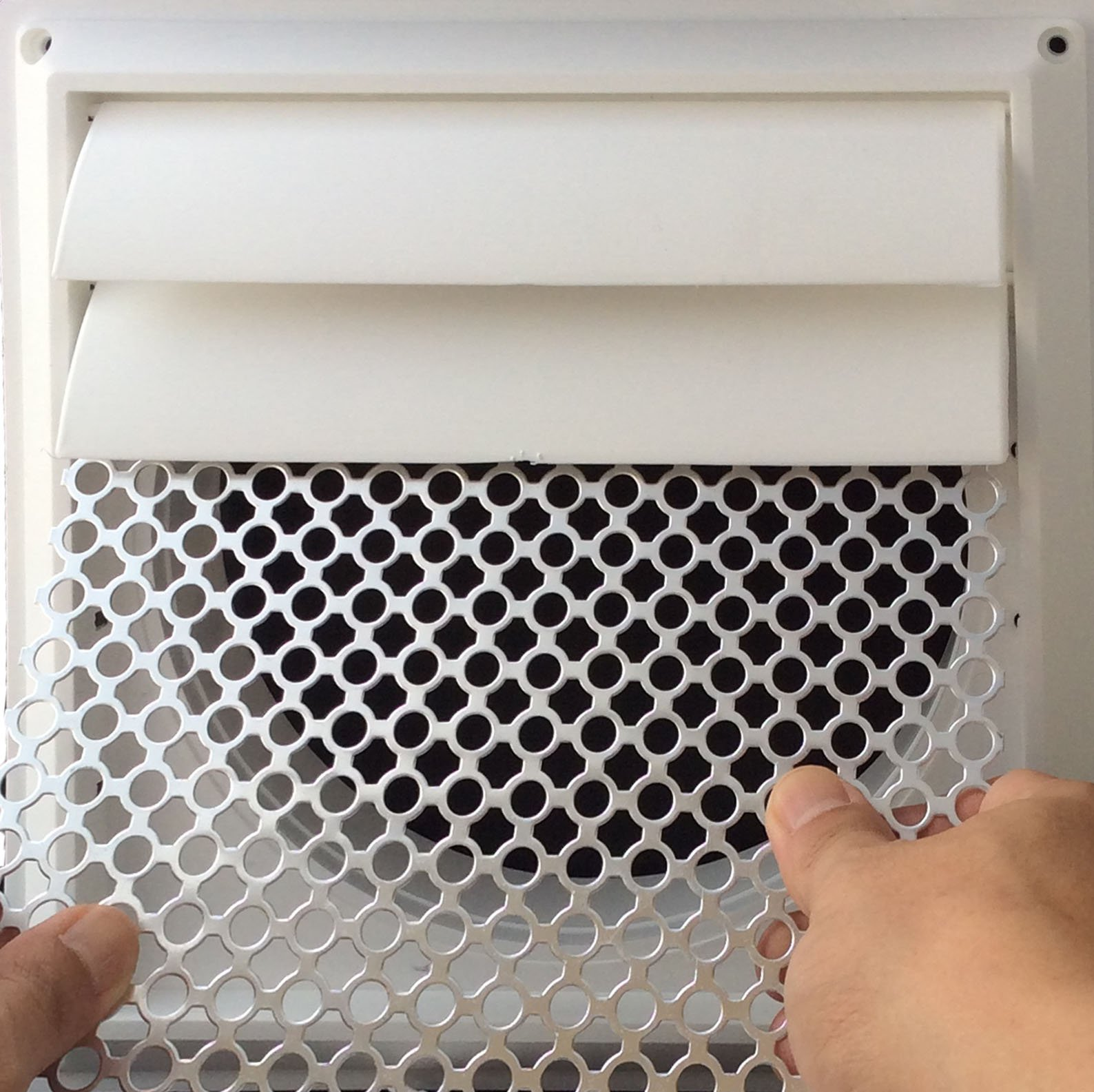 New Aroma Trees Dryer Vent Bird Stop - Dryer Vent Grill - Pest Guard - Stops Birds Nesting In Dryer Vents and Bathroom Exhaust Vents Pipe, Customizable 3'' - 8'' Louver Vent Hood Cover Guard by Aroma Trees (Image #4)
