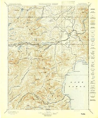 Amazon Com Yellowmaps Truckee Ca Topo Map 1 125000 Scale 30 X 30