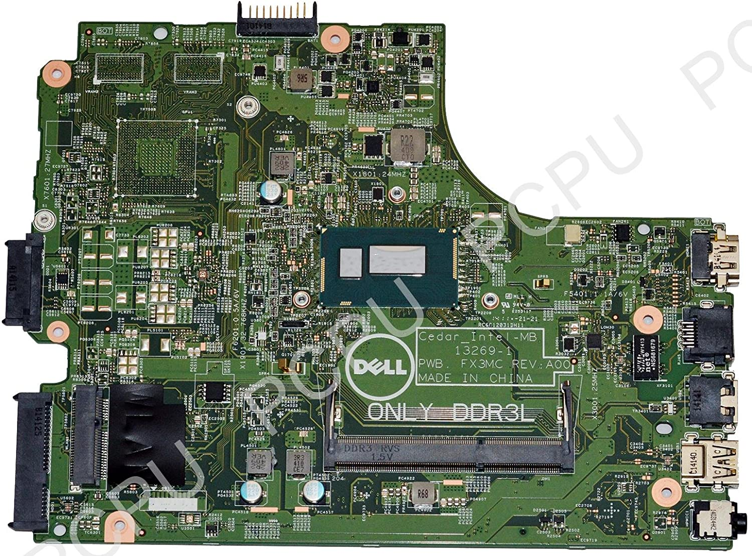 P34KX Dell Inspiron 15 3542 Laptop Motherboard w/Intel Pentium DC 3558U 1.6Ghz CPU
