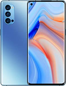 OPPO Reno4 Pro 5G Dual-SIM 256GB (GSM Only | No CDMA) Factory Unlocked Android Smartphone (Galactic Blue) - International Version
