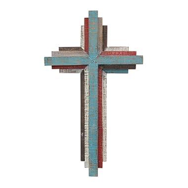Stonebriar SB-6001A Accents of Faith 14  3D Multicolor Wooden Wall Cross