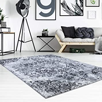 Amazon De Carpet City Teppich Flachflor Inspiration Mit Floralen