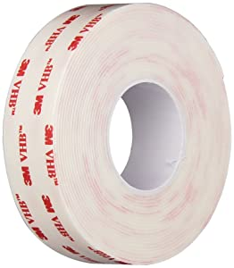 3M VHB 4950 Heavy Duty Mounting Tape - 1 in. x 15 ft. Permanent Bonding Tape Roll with Acrylic Foam Core. Tapes and Adhesives