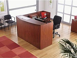 Alera Valencia Series Reception Desk with Transaction Counter