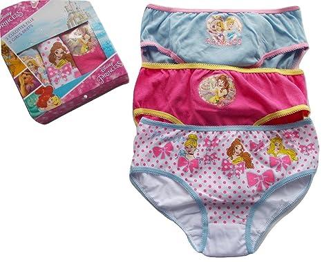 2a92dea29222 Disney Princess Pack of Three Girls Briefs