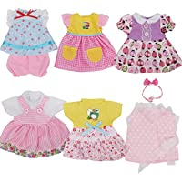 Pack of 6 Fit for 12 Inch Alive Baby Doll Dress Clothes Fashionista Gown Outfits Include Hair Band For Girls American…