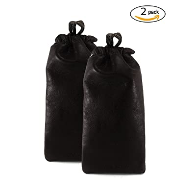 Chalk Factory Multiple use Lambskin Leather Pouch with Drawstrings